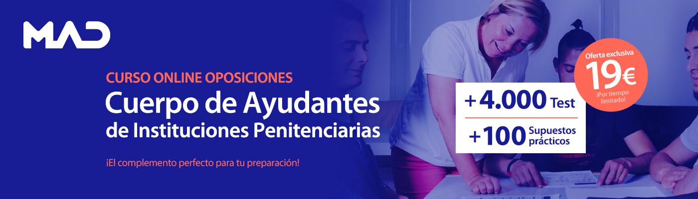 Curso online de oposiciones - Ayudante de Instituciones Penitenciarias